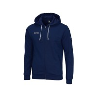 Errea Zipped Hooded Sweatshirt WIRE Navy